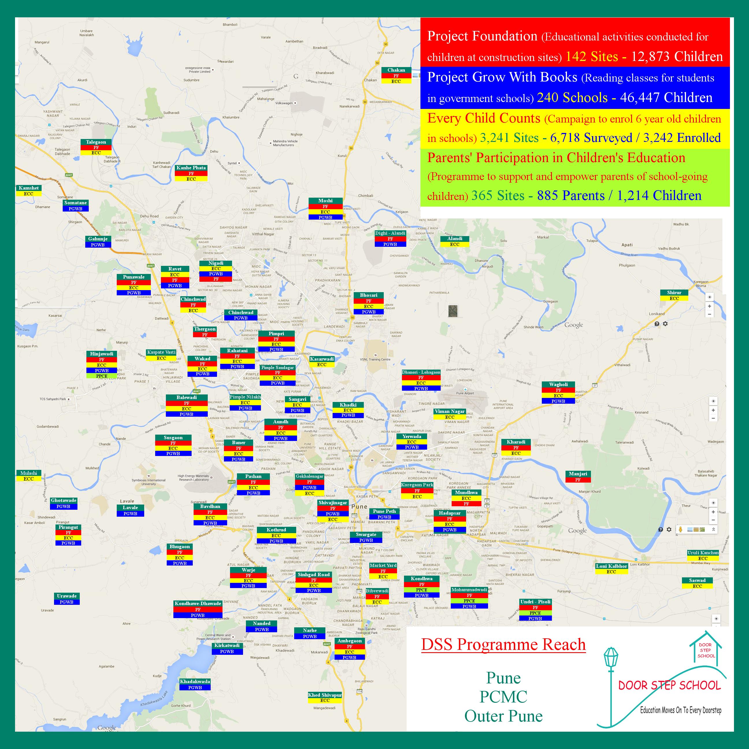 Door Step School Pune Project Map